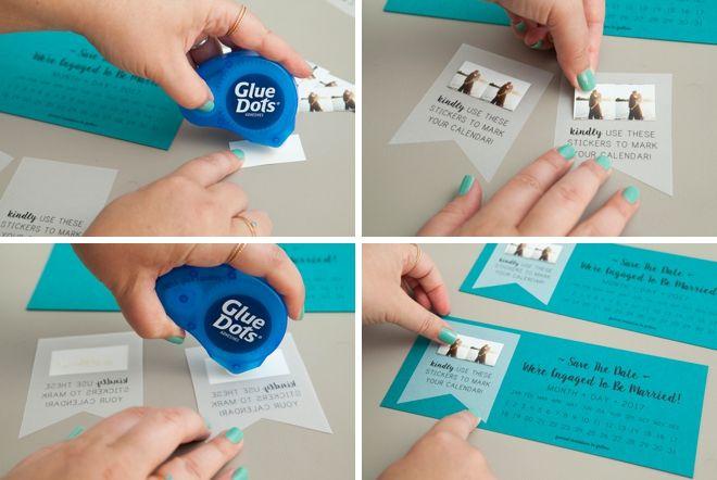NEW, Free DIY Save The Dates With Calendar Stickers! DIY Wedding