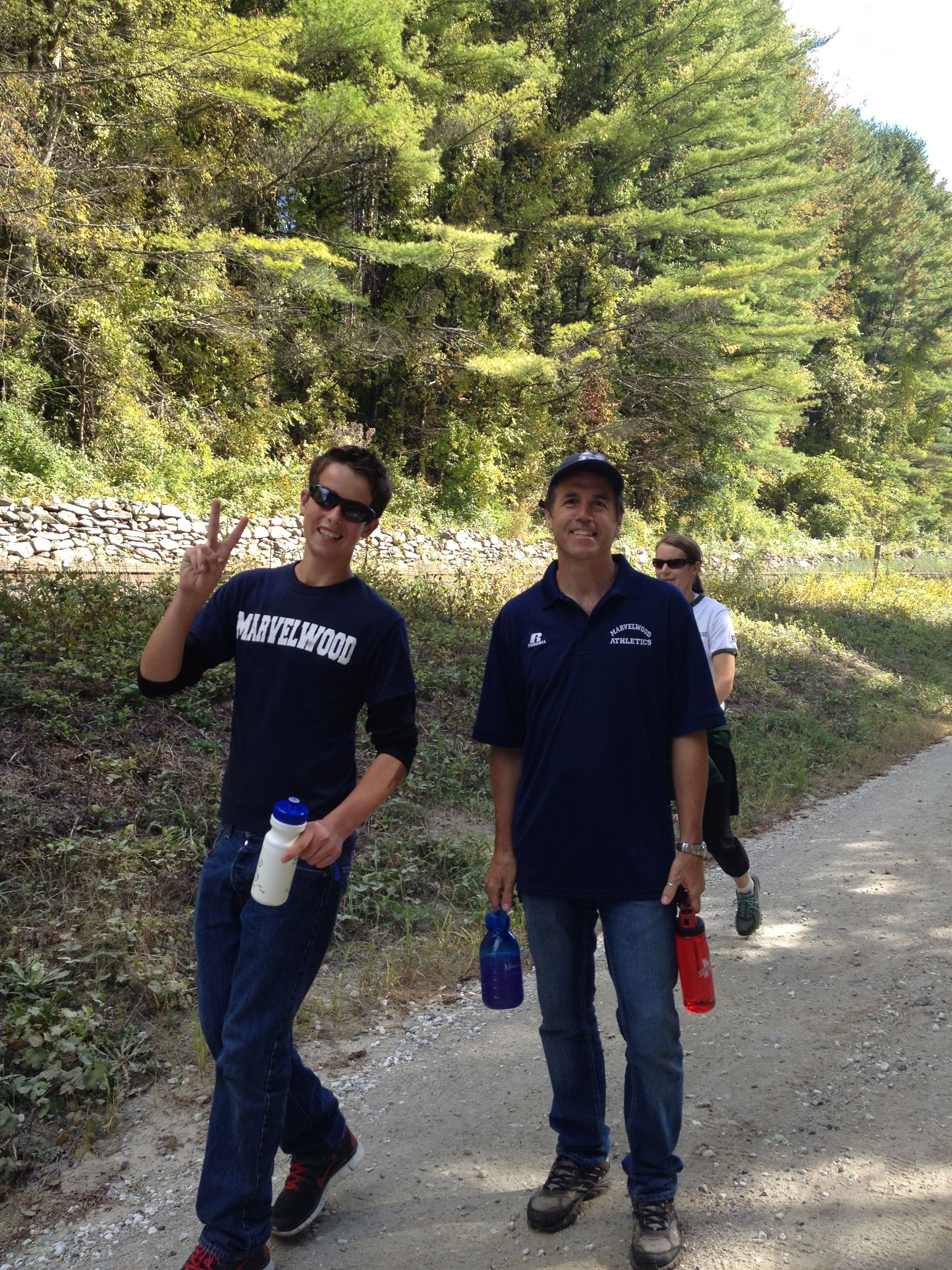 Josh and Dr Kennedy doing the Crop Hunger Walk