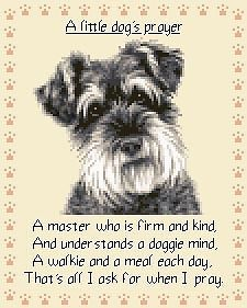 Details About Miniature Schnauzer Complete Counted Cross Stitch