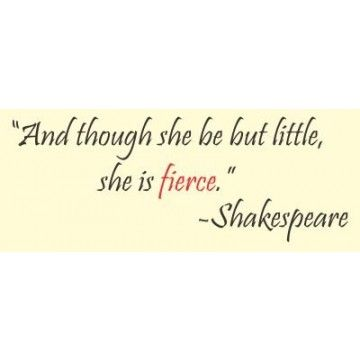 Shakespeare Quote Though She May Vinyl Wall Art Quotes