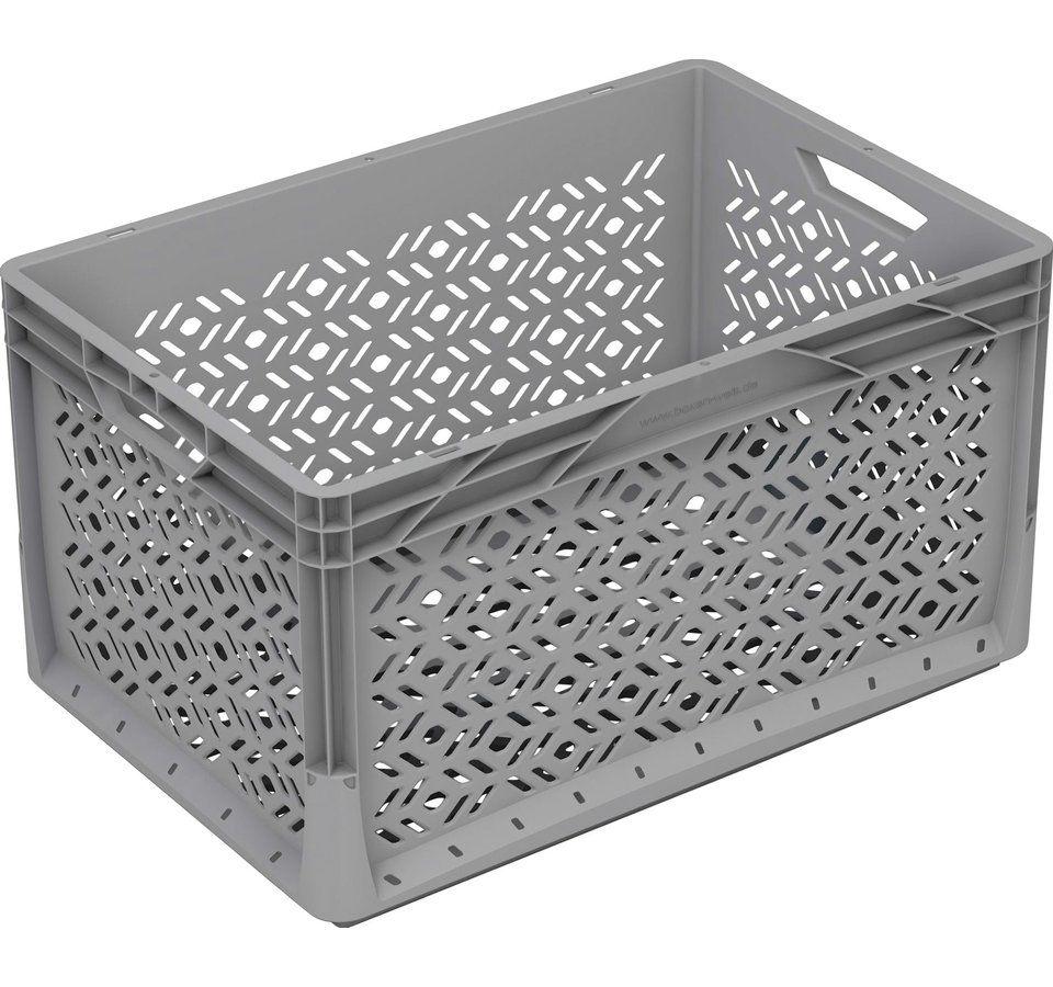 Eurobox System Tauro Box Durchbrochen 40 X 30 X 22 Cm Grau Obi