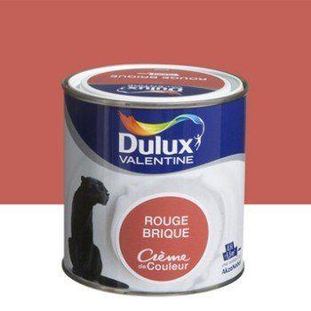 Peinture Rouge Brique Dulux Valentine Creme De Couleur 0 5 L Leroy Merlin Dulux Valentine Peinture Blanc Casse Peinture Bleue Paon
