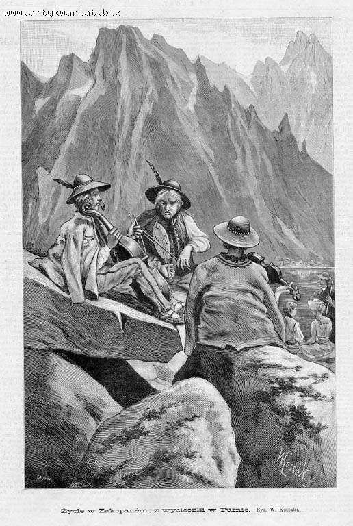 Drzeworyt Tatry Zakopane Zycie W Zakopanem Z Wy 5104301749 Allegro Pl Wiecej Niz Aukcje Mountain Drawing Art Drawings