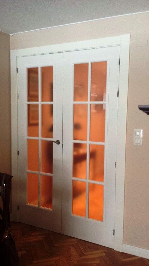 Forrado De Puerta De Entrada Instalación De Puertas Lacadas Mod 9100ar Y Con Vidriera De Sanr Puertas Lacadas Puertas De Aluminio Puertas De Aluminio Exterior