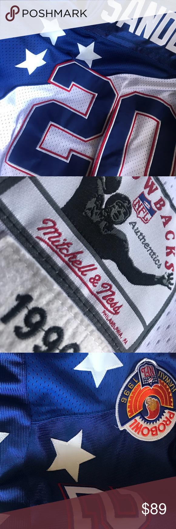 online retailer 1937e 3b703 NWOT! Barry Sanders 1996 Pro Bowl Jersey Size 52 MITCHELL ...