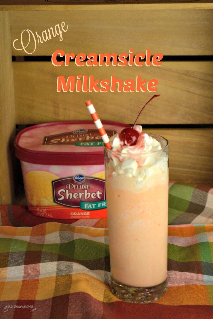 orange creamsicle milkshake drinks pinterest orange