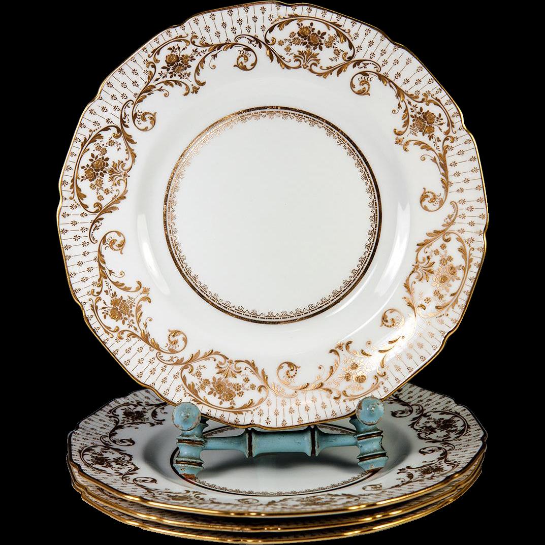 4 Opulent Antique Royal Doulton Raised Gold Enamel u0026 Cobalt Dinner Plate Set  sc 1 st  Pinterest & 4 Opulent Antique Royal Doulton Raised Gold Enamel u0026 Cobalt Dinner ...