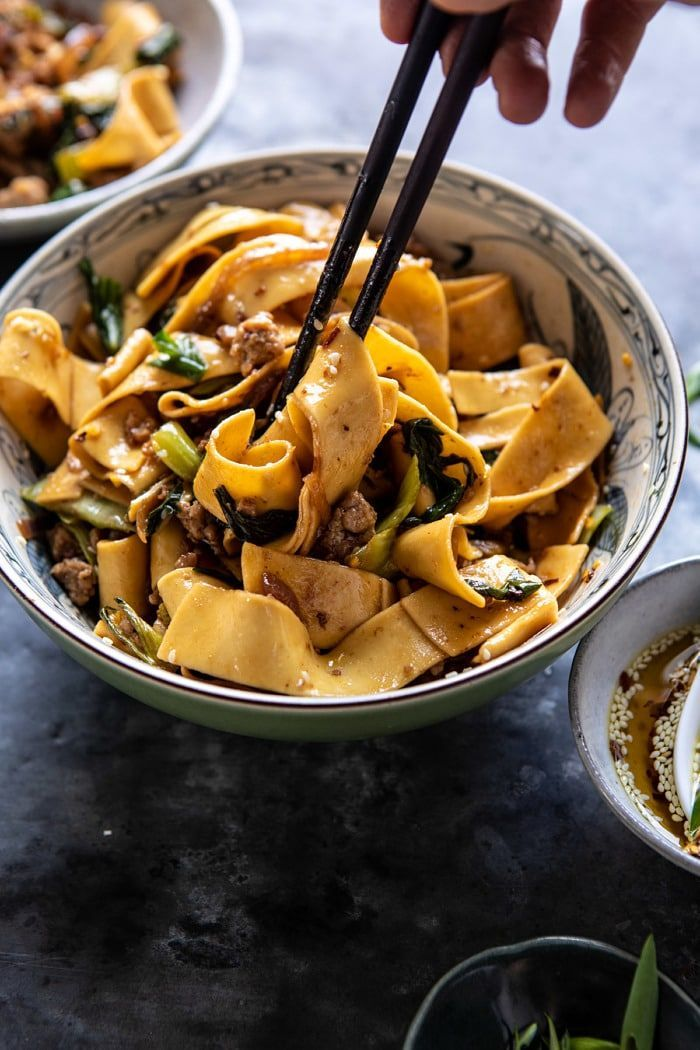 Better Than Takeout Szechuan Noodles With Sesame Chili Oil Half Baked Harvest Recipe Food Recipes Asian Dishes