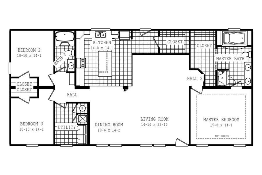 Floorplan Freedom 58fre32623am Oakwood Homes Of Tahannock