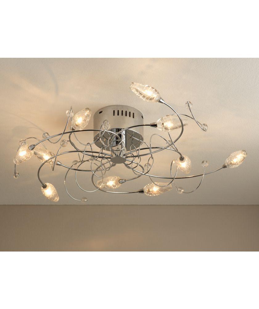 buy belize 10 light ceiling fitting silver at. Black Bedroom Furniture Sets. Home Design Ideas