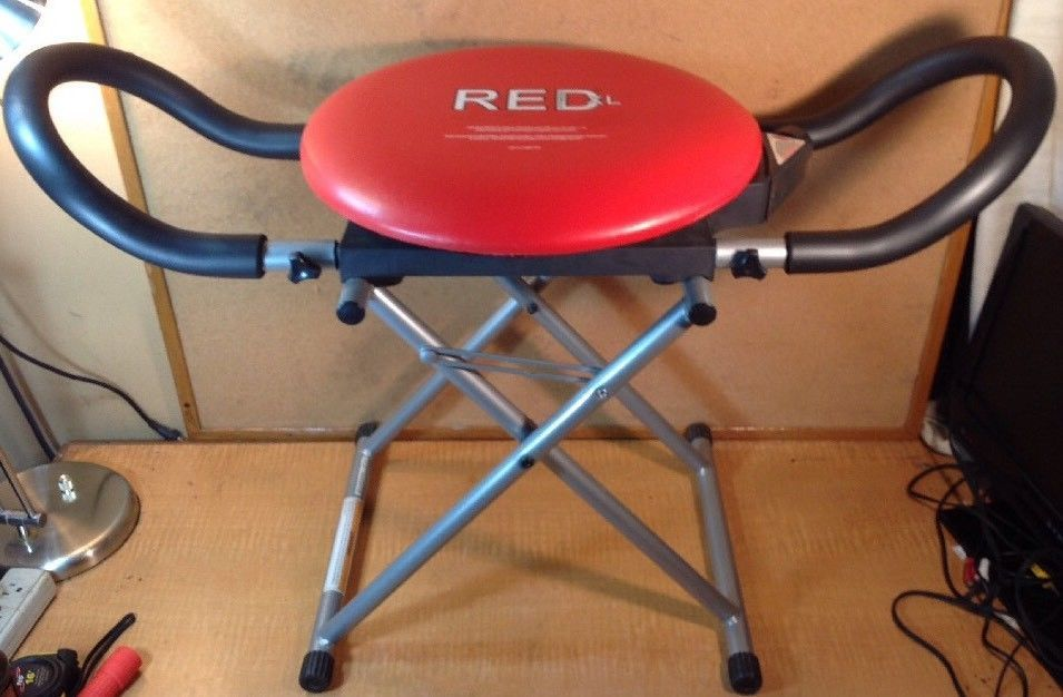ab cruncher chair one and half with ottoman red fitness xl core rotation adjustable resistance machine redxlfitness