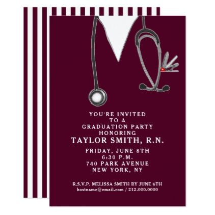 Nursing school graduation party invitation pinterest nursing school graduation party invitation graduation party invitations card cards cyo grad celebration filmwisefo
