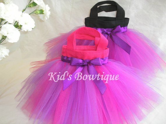 3 Pink and Purple Mixed Tulle Tutu Party Favor Tutu Bag - Toddler Tutu Purse