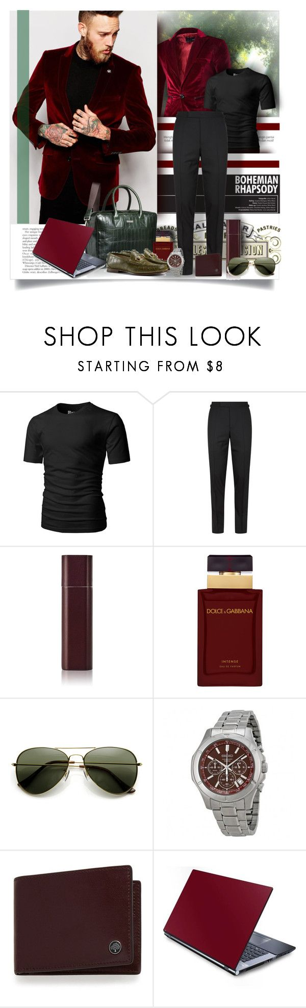"""""""Green and Burgundy"""" by angelflair ❤ liked on Polyvore featuring Trilogy, Tom Ford, Byredo, Dolce&Gabbana, Mulberry, men's fashion, menswear and thebestpolyvorians"""