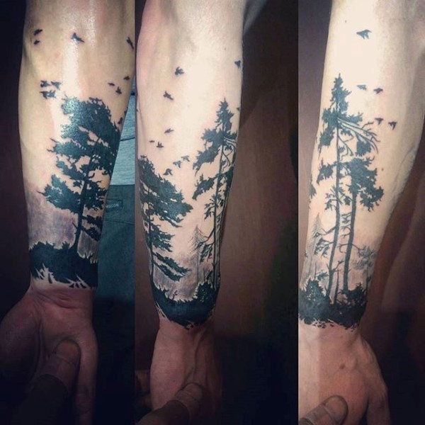 Top 59 Forearm Tree Tattoo Ideas 2020 Inspiration Guide Tree Tattoo Forearm Tree Tattoo Designs Oak Tree Tattoo