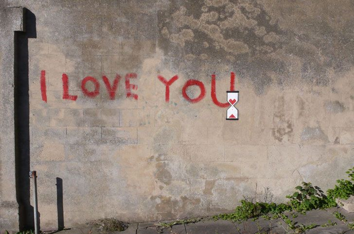 Another of my favorite Banksy's. Relevant in light of Valentines Day! His works always have that touch of sad irony to them- I guess his love is still loading.
