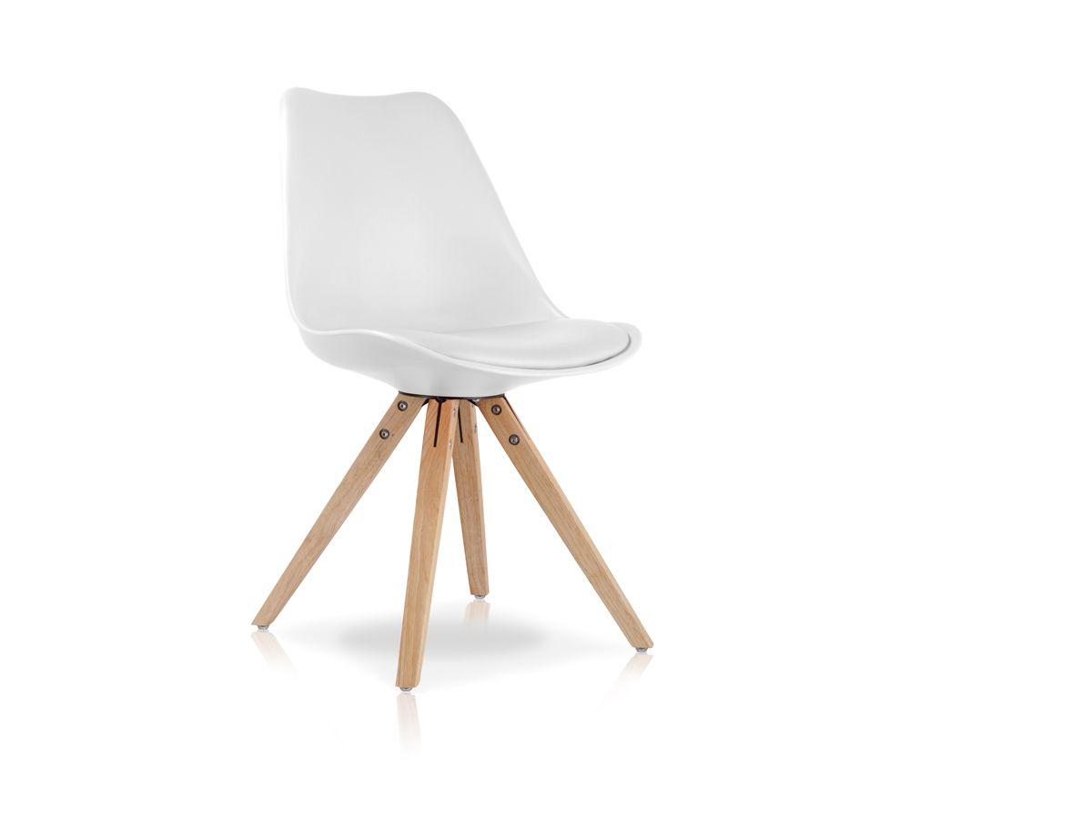 Esstischstuhl Weiß pitu esstischstuhl schalensitz weiss weiss chair