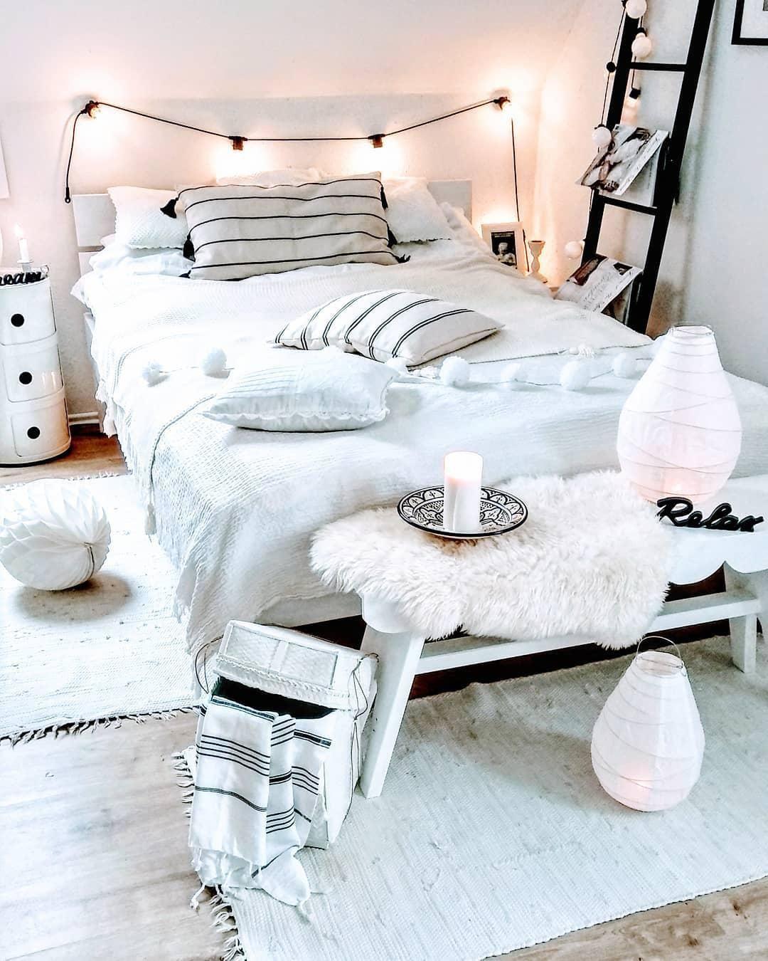 Led-lichterketten led lichterkette partaj  schlafzimmer träume  pinterest  room
