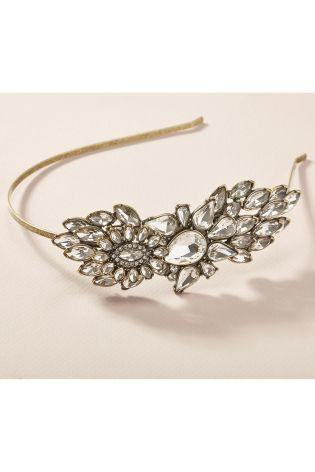 Vintage Style Crystal Effect Head Band from Next