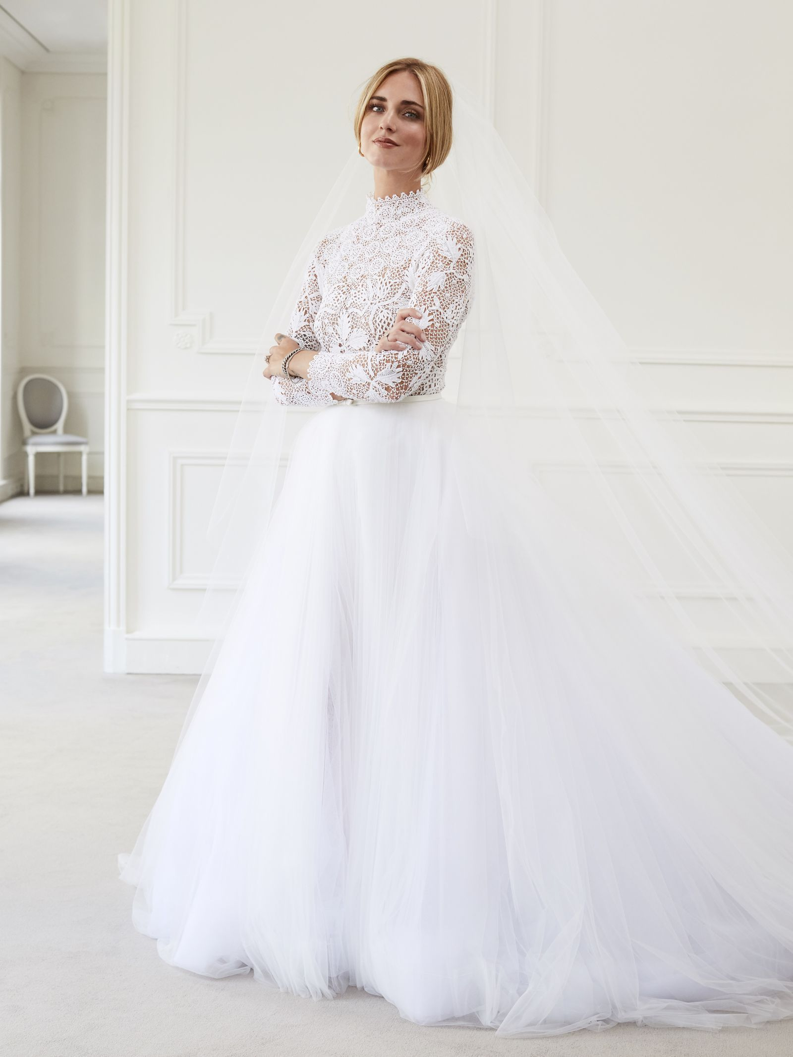 Dior wedding dresses  Video See the moment Chiara Ferragni saw her Dior wedding gown for