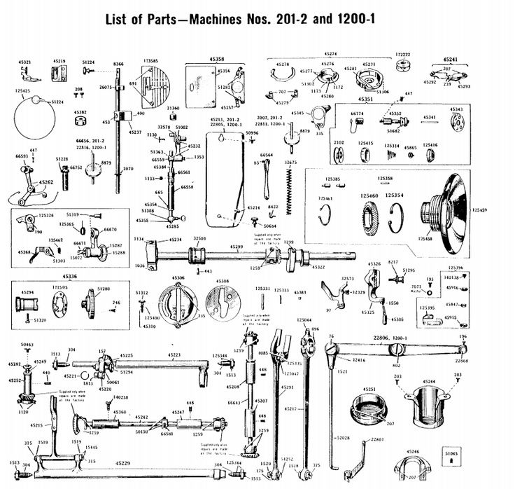 345860468ef1da3584065775eceab16a parts list for singer 201 2 singer 201 sewing machine sew machine parts diagram at gsmx.co