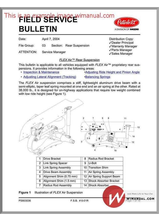 Peterbilt Flex Air Service Bulletin Fsb0601 Peterbilt Flex Hydraulic Pump
