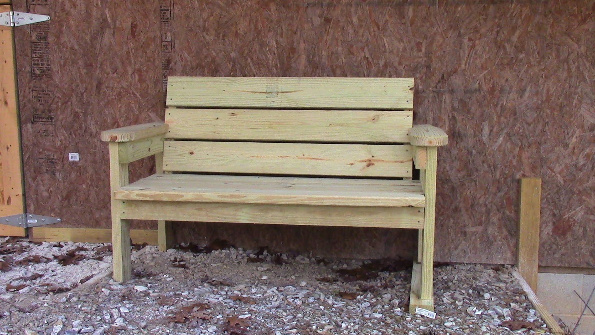 Bon How To Make A Quick, Easy, And Inexpensive Garden Bench.