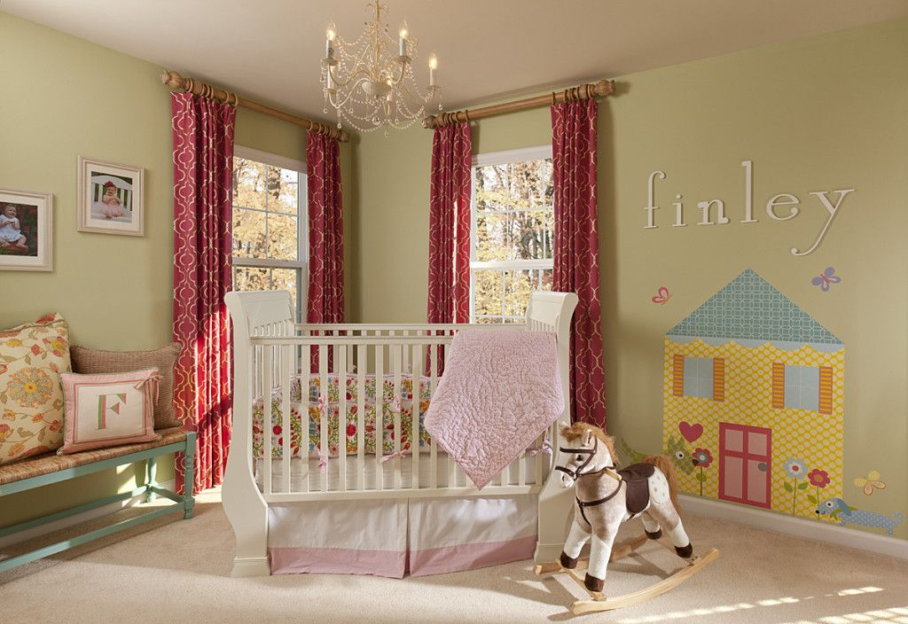We can't get enough of these custom drapes and adorable nursery designed by @Lauren Nicole Designs! #nursery