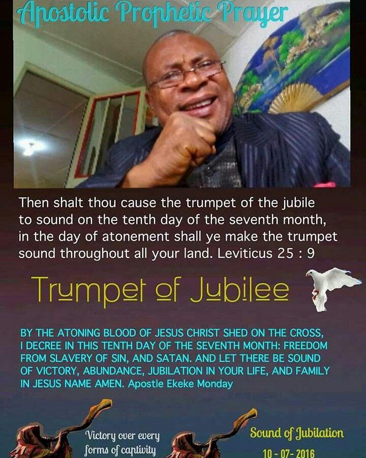 Apostolic prophetic declaration: Trumpet of Jubilee  | DAILY LIFE