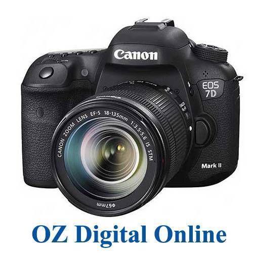 New Canon Eos 7d Mark Ii 18 135 Stm Lens Kit Mk2 20 2mp Dslr Camera 1 Yr Au Wty Best Camera Digital Camera Camera Nikon