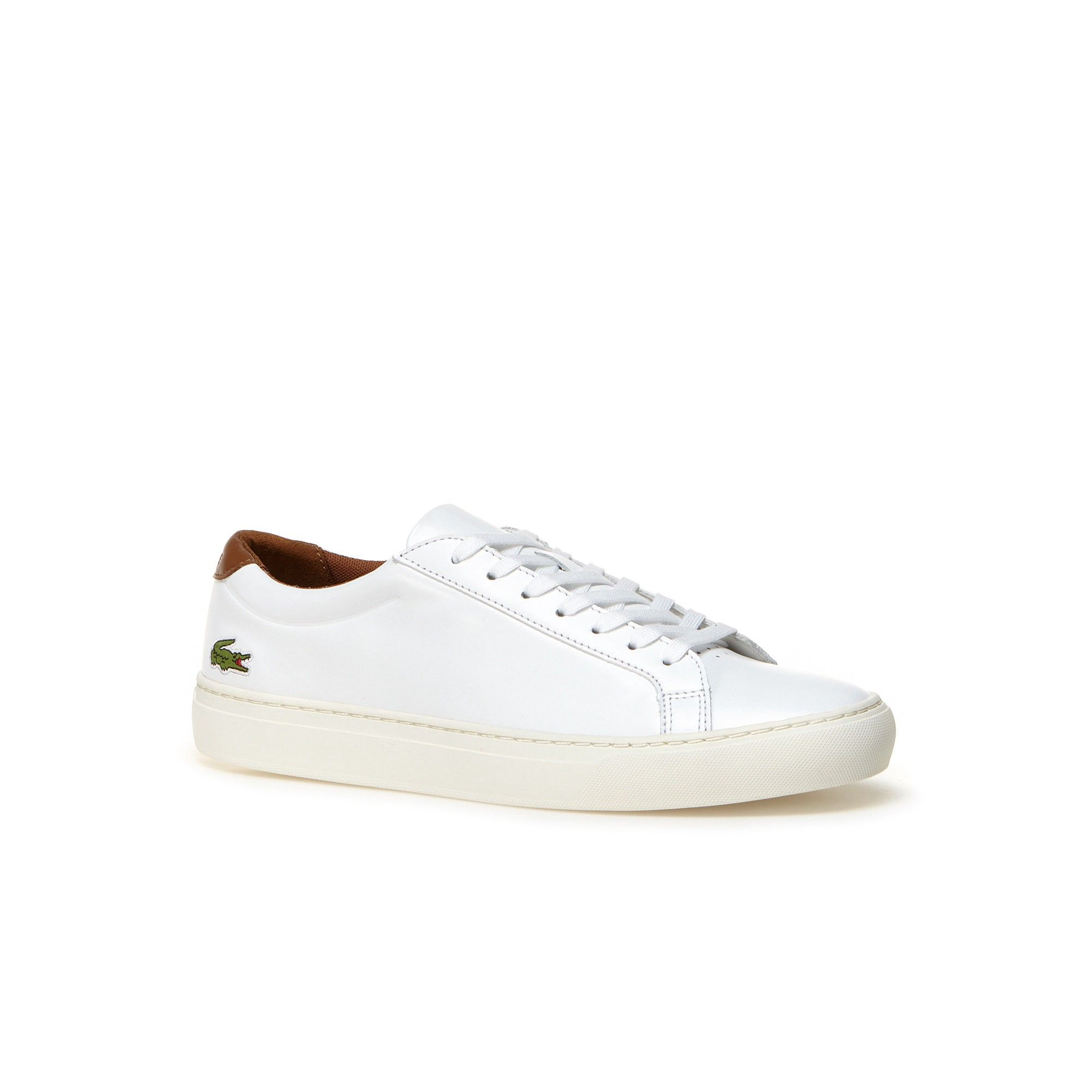 0859a093eb8df5 LACOSTE Men s L.12.12 Leather Sneakers - white brown.  lacoste  shoes