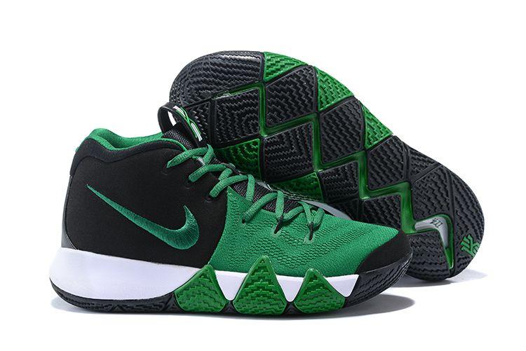 wholesale dealer fc111 0a703 2018 Nike Kyrie 4 Black/Green-White For Sale | Air Jordans ...