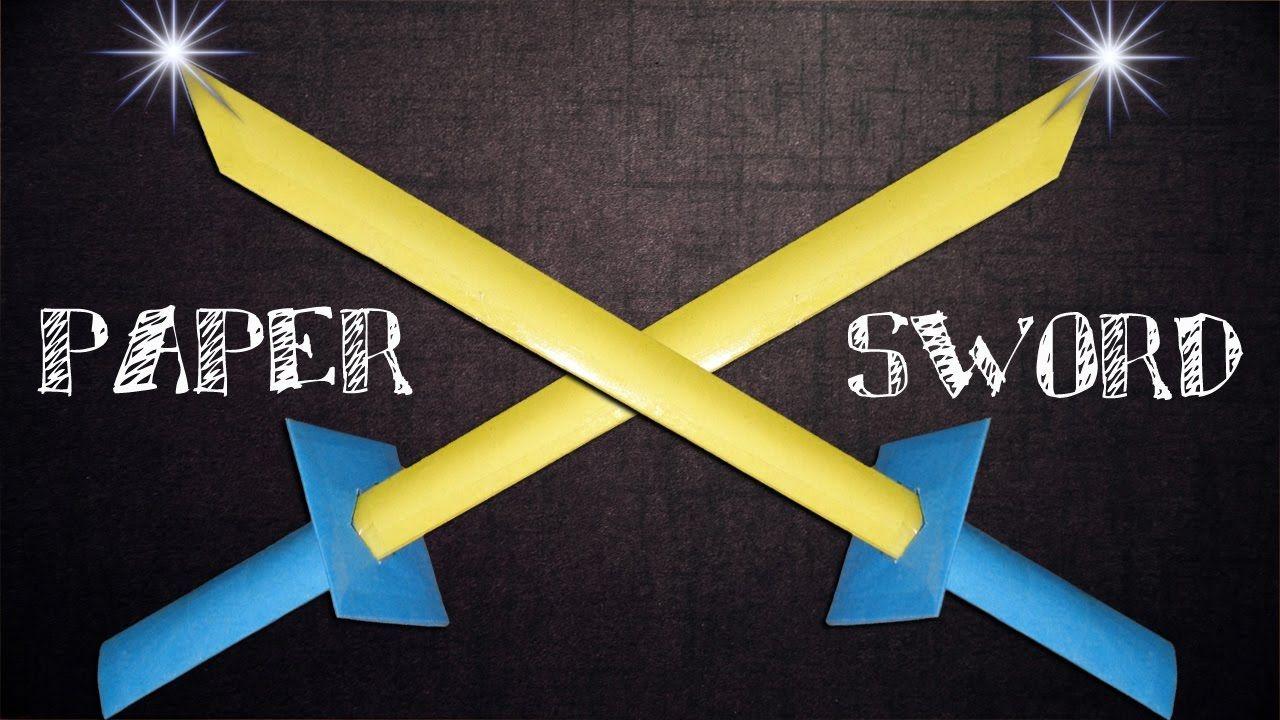 How To Make A Paper Sword Like Ninja Samurai Httpsyoutu