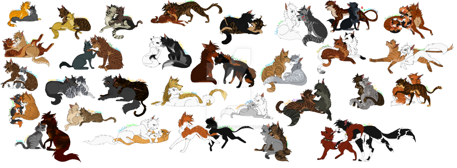 WARRIOR CATS Couples REDO By AppleJaneBlackdeviantart On DeviantArt Warrior Cats