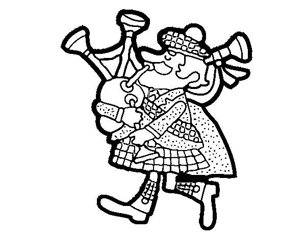 Cartoon Of Scottish Bagpipes Coloring Page Coloring Sky Flag Coloring Pages Coloring Pages Scottish Bagpipes