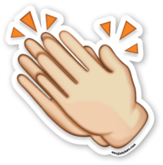 Clapping Hands Sign | Emoji Stickers