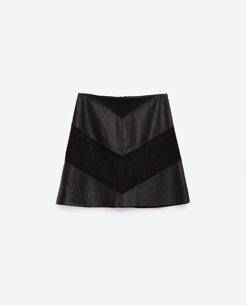 Image 8 of CONTRAST MINI SKIRT from Zara