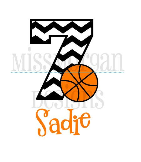 Personalized Basketball Birthday Number Iron On Decal Vinyl For - Custom vinyl decals numbers for shirts