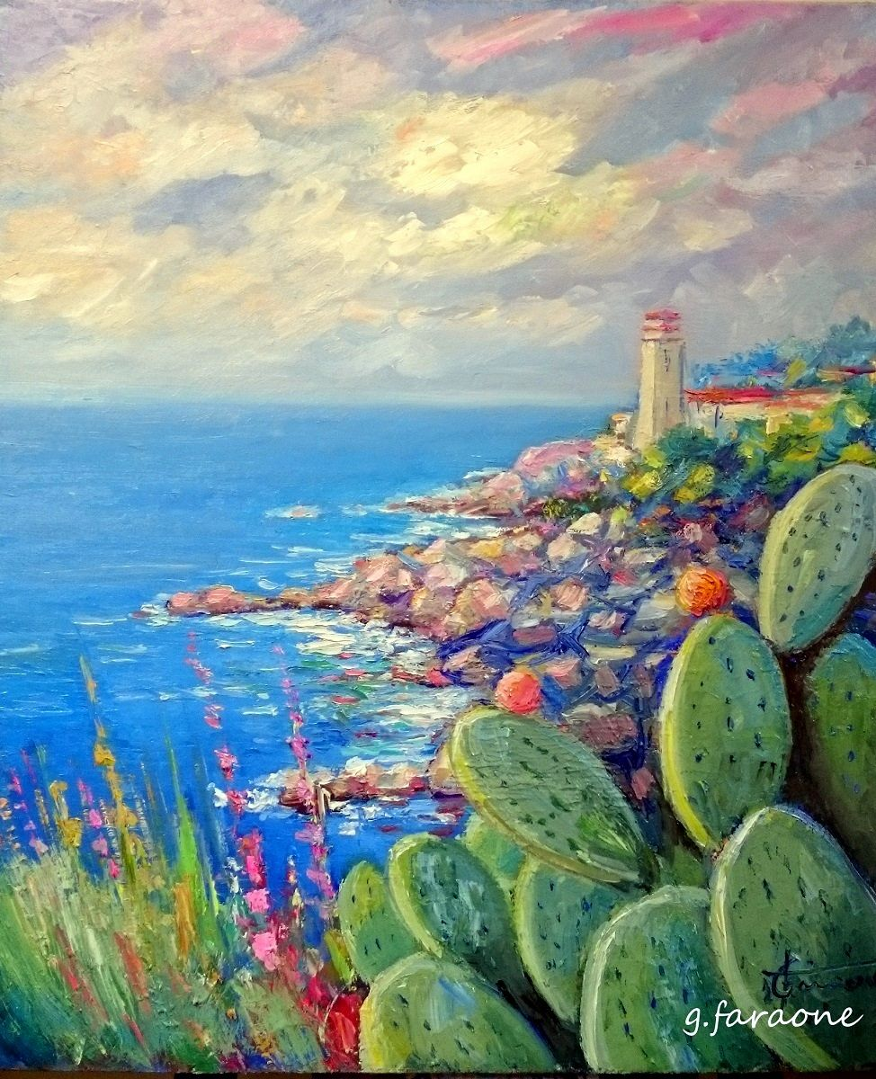 Paesaggi dipinti dal pittore impressionista Giuseppe Faraone Artista contemporaneo esprime