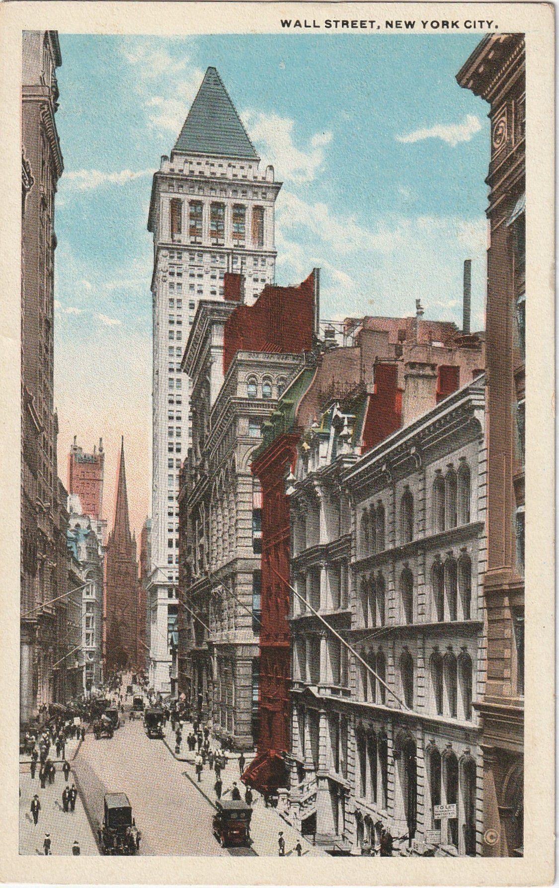 wall street new york city postcard c 1912 city on wall street news id=83803