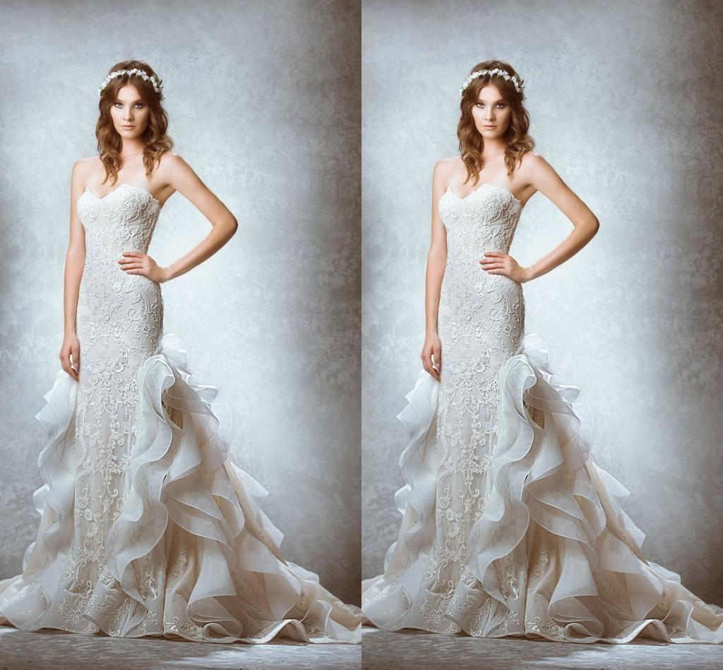 2015 Wedding Dresses Mermaid Vintage Backless Bridal Wedding Gowns ...