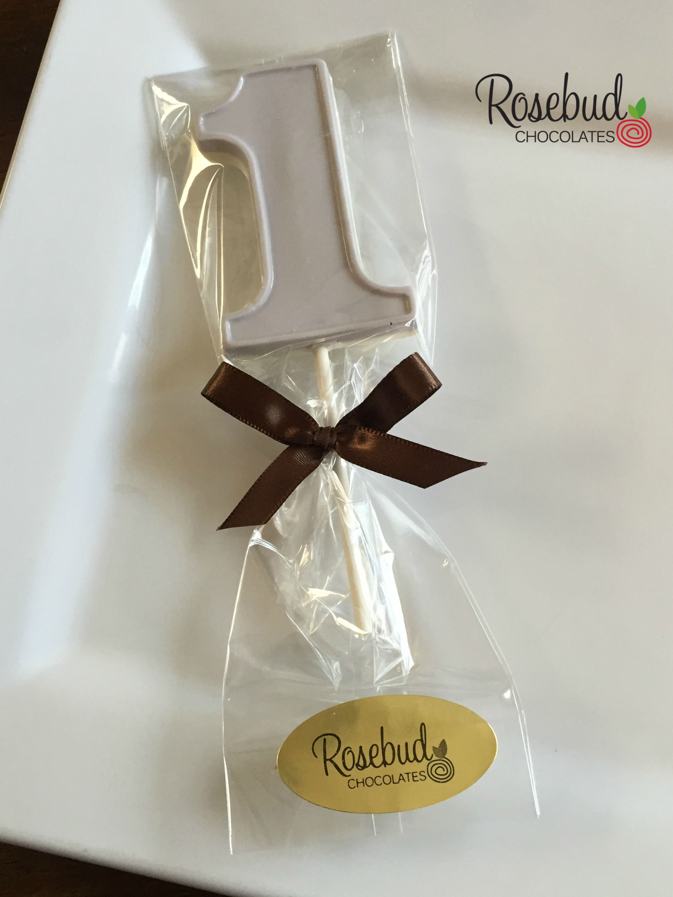 Gray & White Chocolate Number e Lollipop Favors Kids First