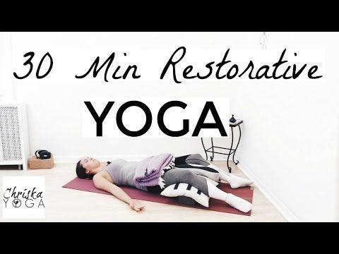 30 minute restorative yoga class  yoga to feel