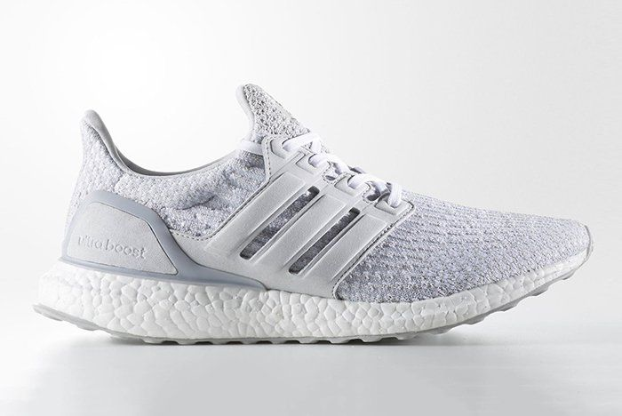 Reigning Champ X Adidas Ultraboost Light Grey White Adidas Ultra Boost Boost Shoes Adidas Ultra Boost Shoes