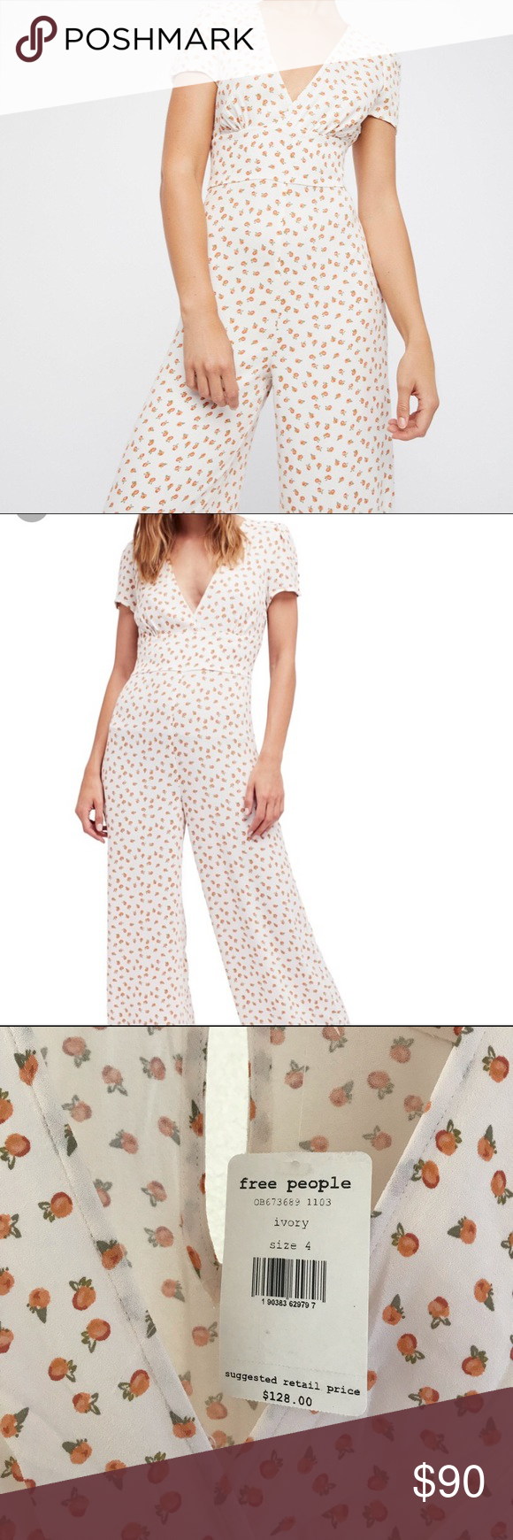 2ddd41e1126 Free People Mia Jumpsuit NWT!! The print on this is to die for! Free People  Pants Jumpsuits   Rompers