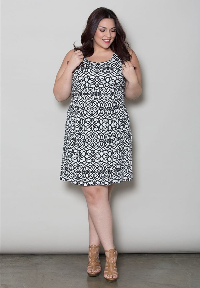 28d80b95310 Whitney Jersey Dress From The Plus Size Fashion Community At  www.VintageAndCurvy.com