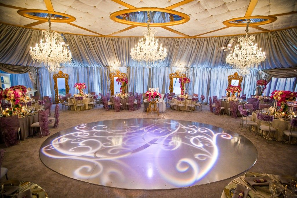 Pretty dance floor with a gobo light a gobo disc can be custom a gobo disc can be custom created for your wedding theme monogram ask a wedding supply rental vendor for how to details junglespirit Choice Image