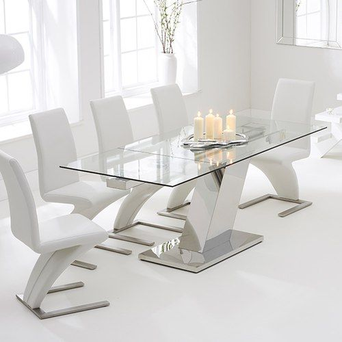 Surprising Luna 140Cm Extending Glass Dining Table With Hampstead Z Machost Co Dining Chair Design Ideas Machostcouk