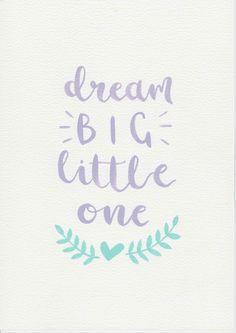 Dream Nursery Quote Purple Mint Art Kids Room Print S Decor Baby Gift Pastel