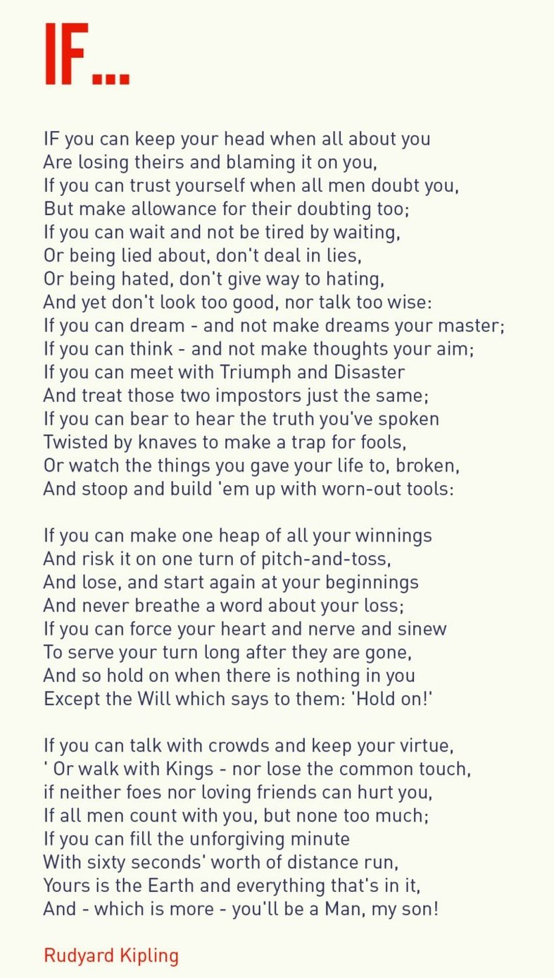 line by line explanation of poem if by rudyard kipling